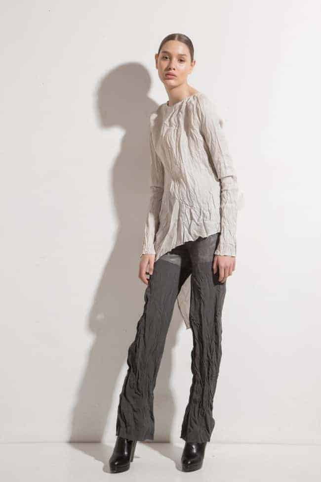Asymmetric silk tunic BETINA