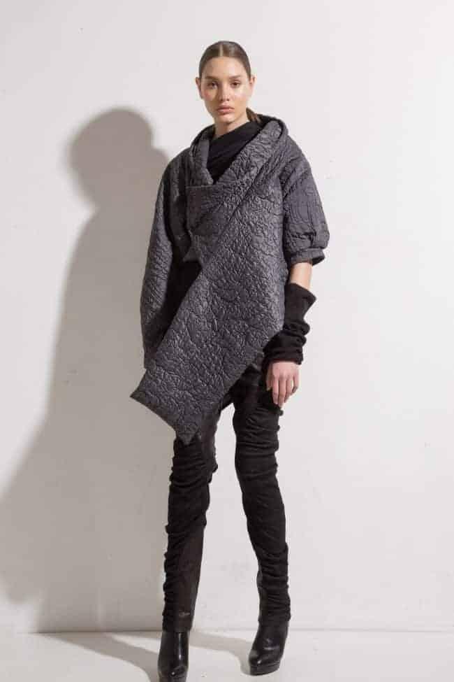 Asymmetric jacket DAYAN