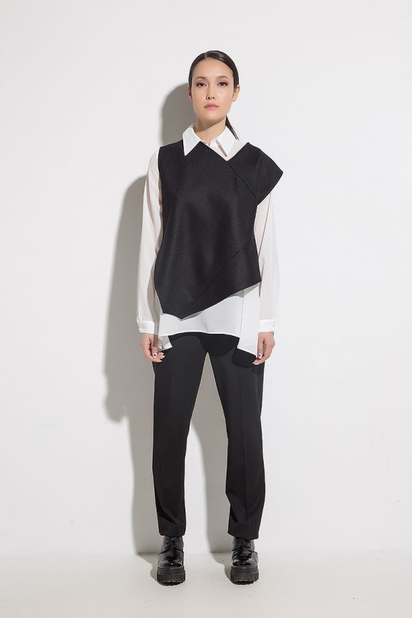 Ladies shirt with uppers EDITTA