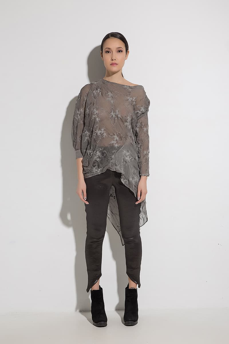 Asymmetrical women's blouse FIORENA