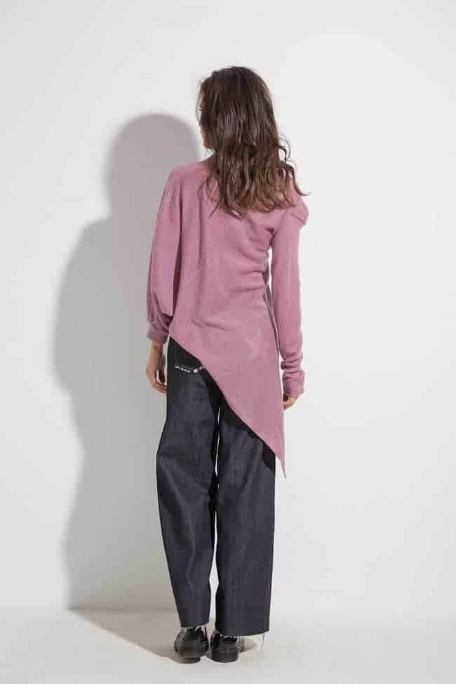 Asymmetric ladies blouse ALETA