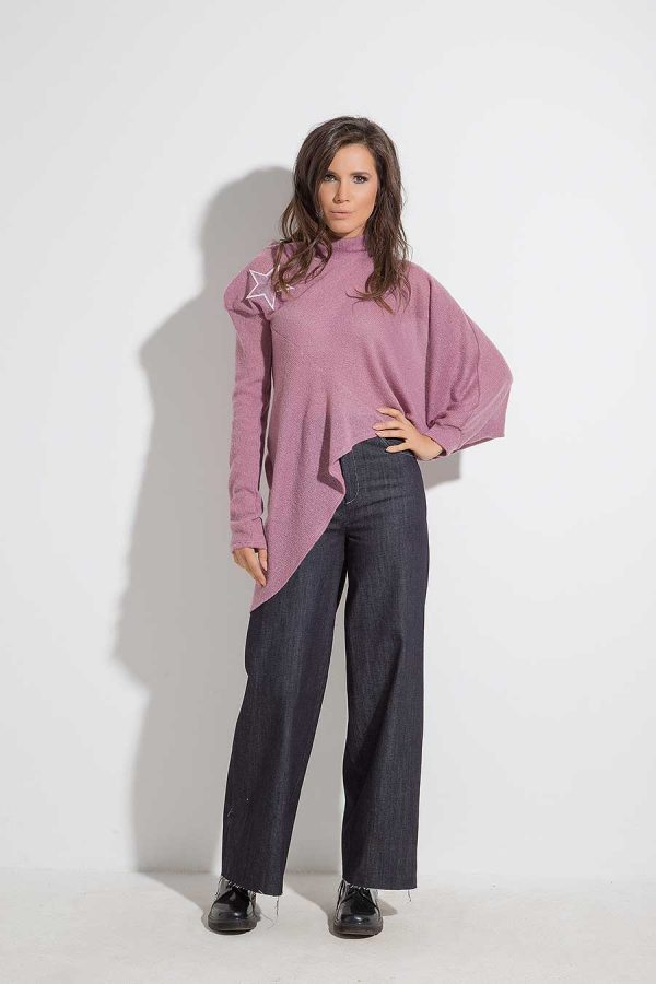 Asymmetric ladies blouse ALETA