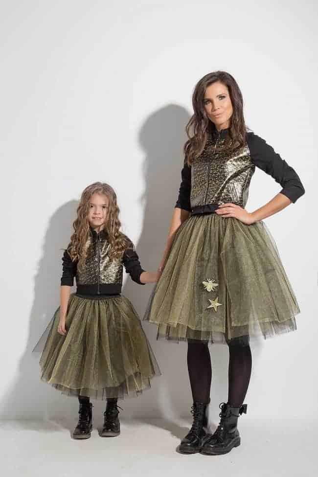 Ladies skirt of tulle SPARKLE