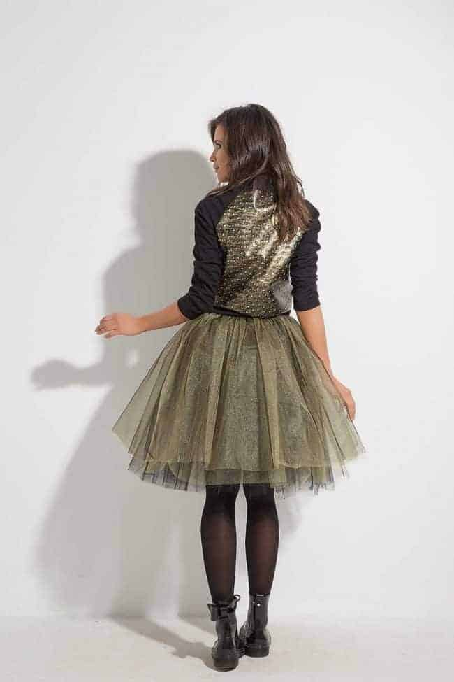 Ladies skirt of tulle SPARKLE