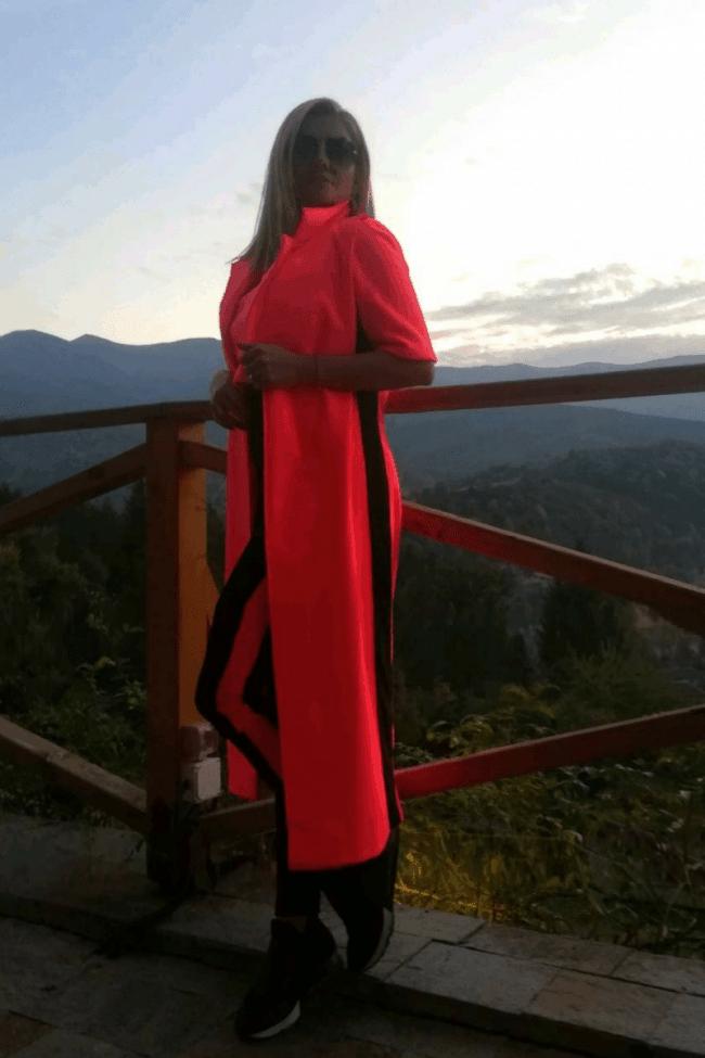 Extravagant long vest ELECTRIC