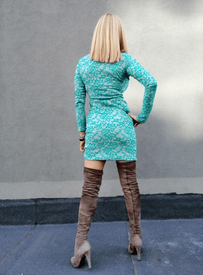 Къса дамска рокля DELINA