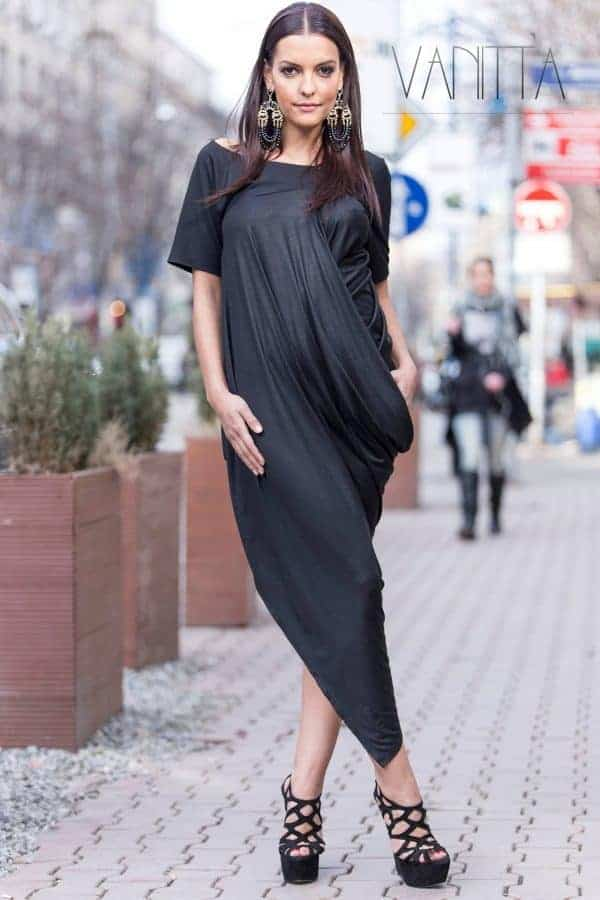 Asymmetrical lady dress ATLAZ
