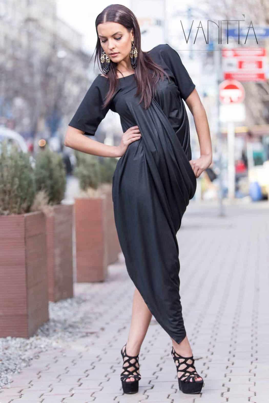 Асиметрична дамска рокля ATLAZ