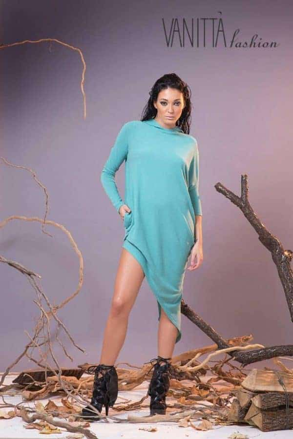 Asymmetrical ladies tunic TUIA