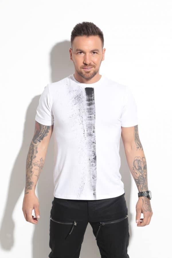 Мъжка тениска с щампа SIX