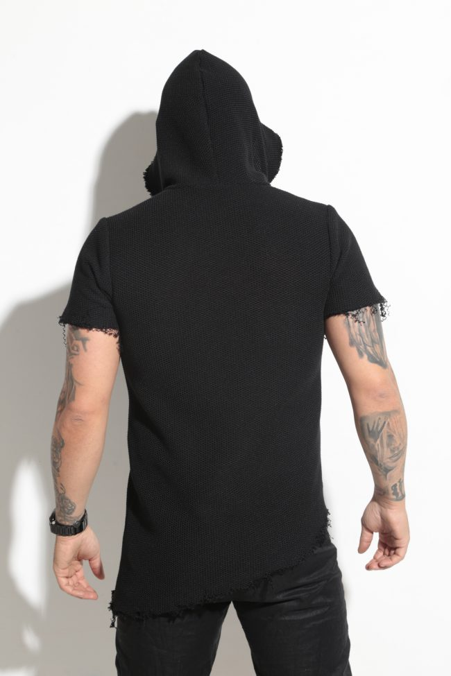 Asymmetrical short sleeve blouse JECK