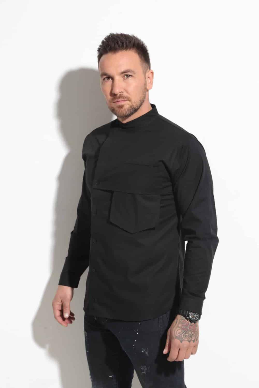 Мъжка риза с ефектен джоб NERO