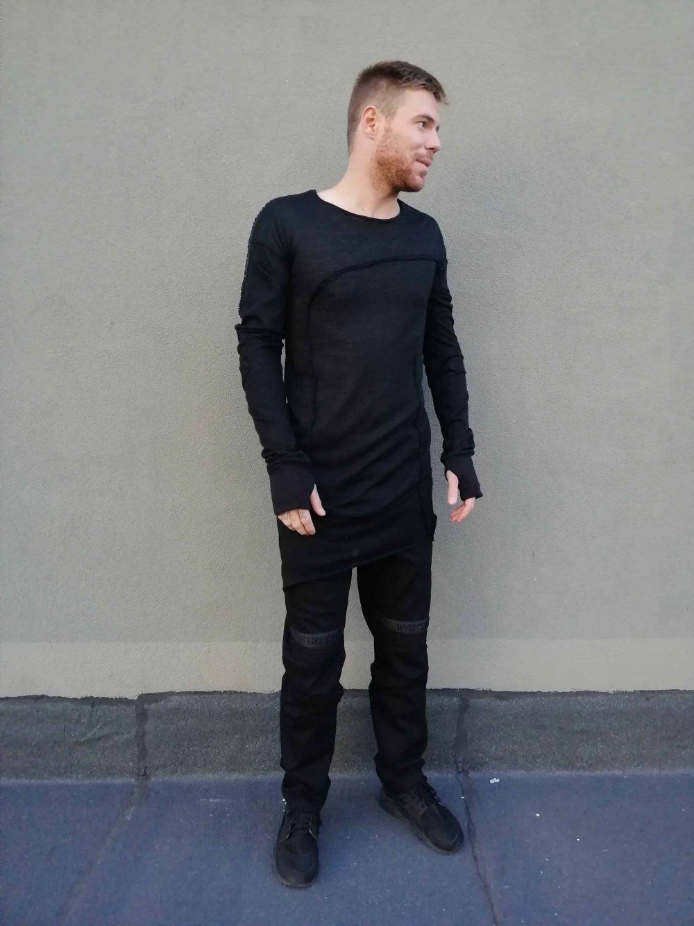 Асиметрична мъжка блуза KEVIN