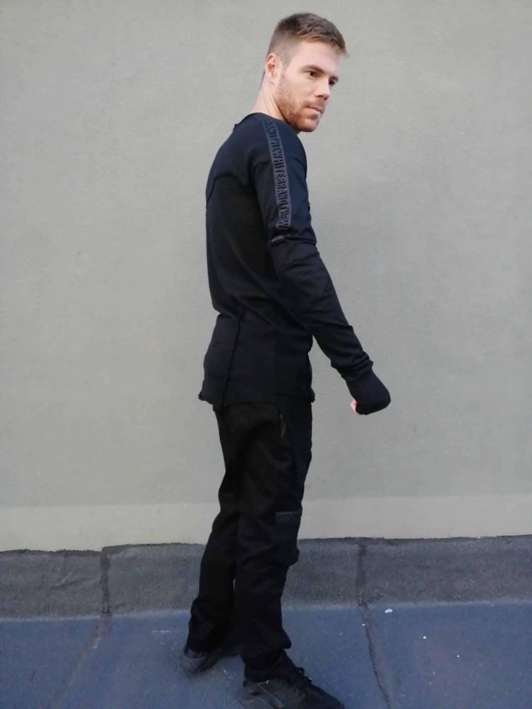 Asymmetrical men blouse KEVIN