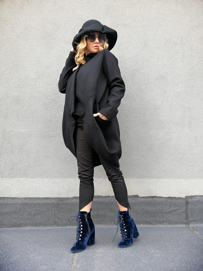 Широко дамско палто SKATA