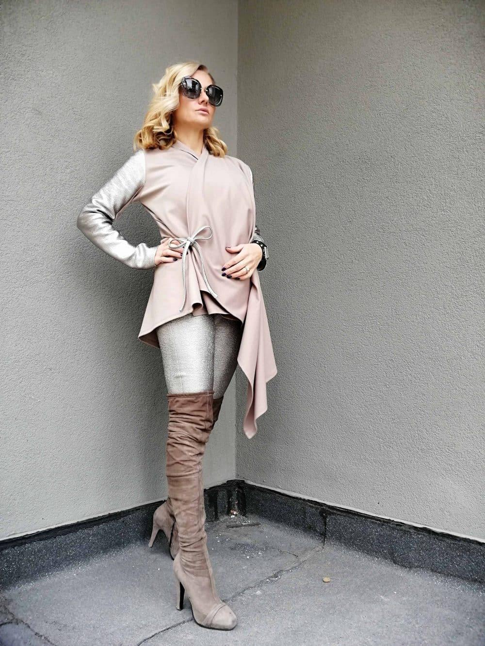 Asymmetrical women's waistcoat MONA