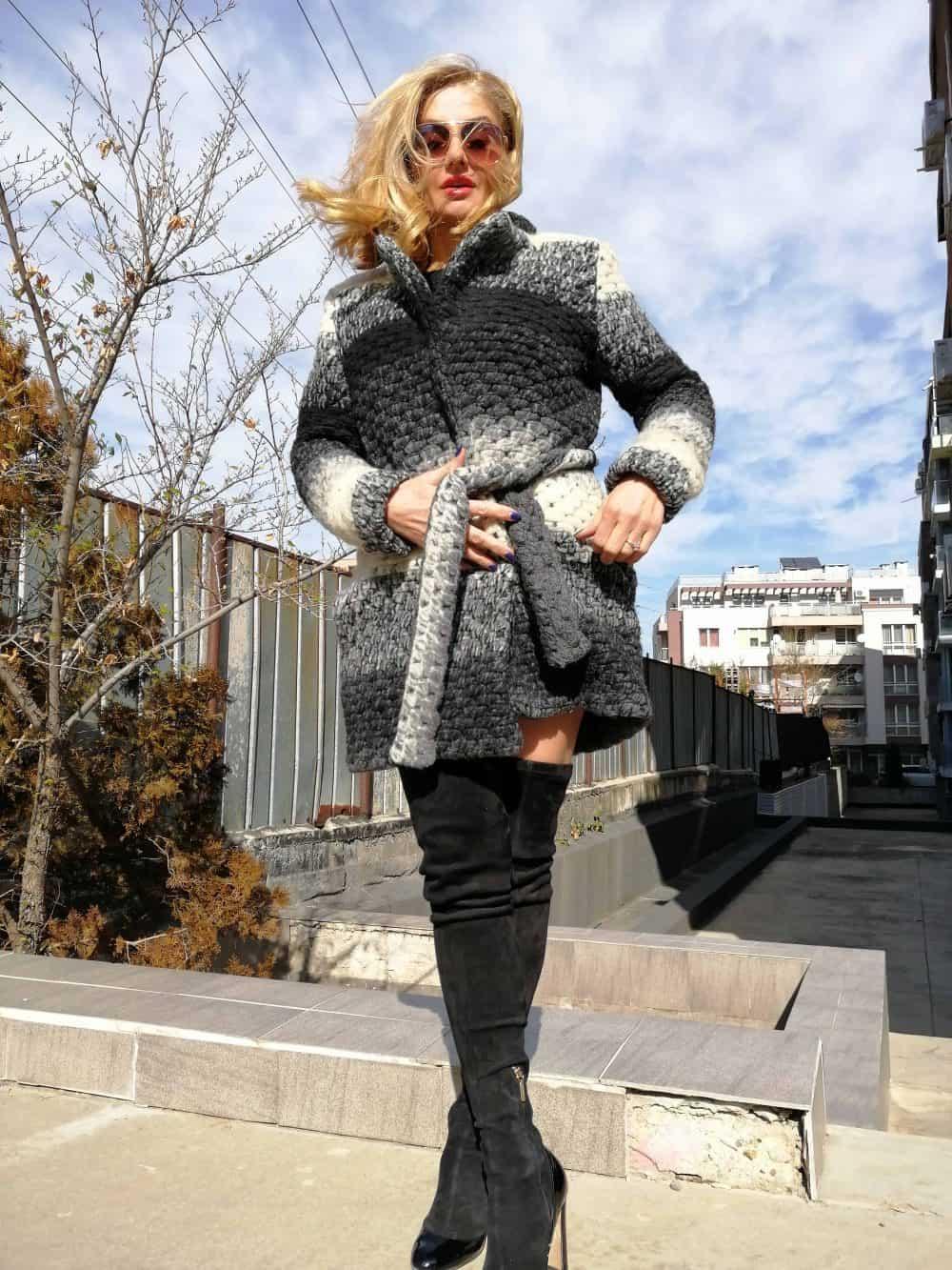 Soft woolen coat SHANA