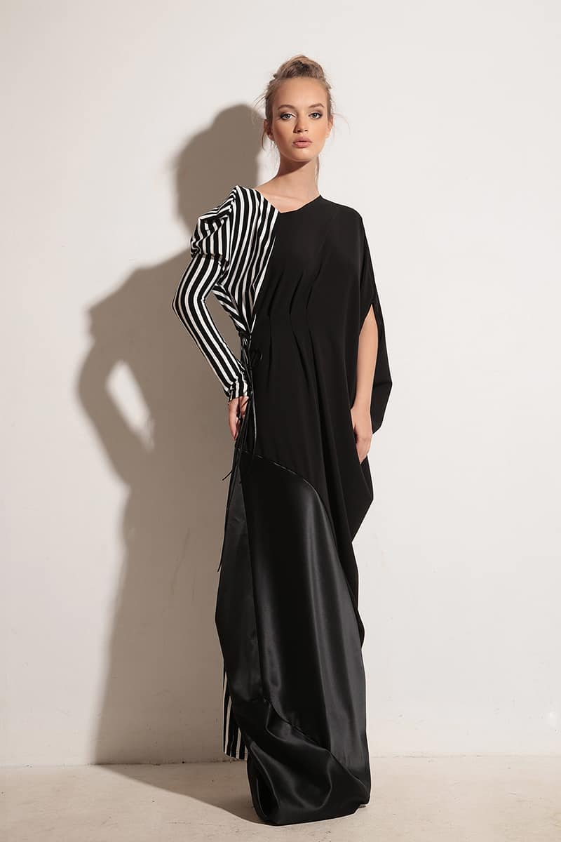 Long ladies dress STRIPE