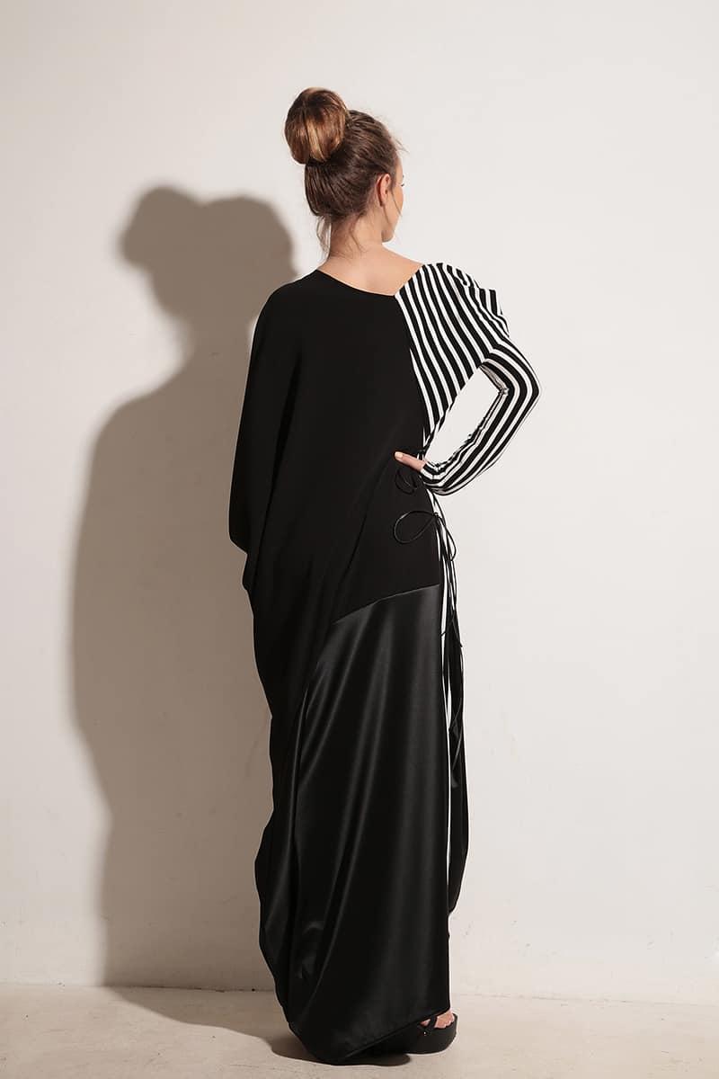Дълга дамска рокля STRIPE