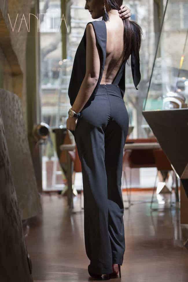 Elegant ladies overalls BLACK LUXE