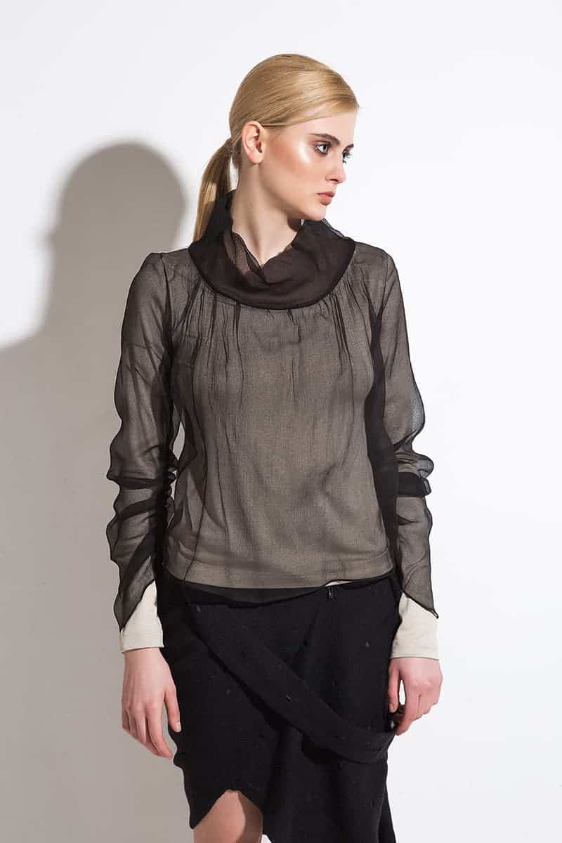 Silk ladies blouse Azara