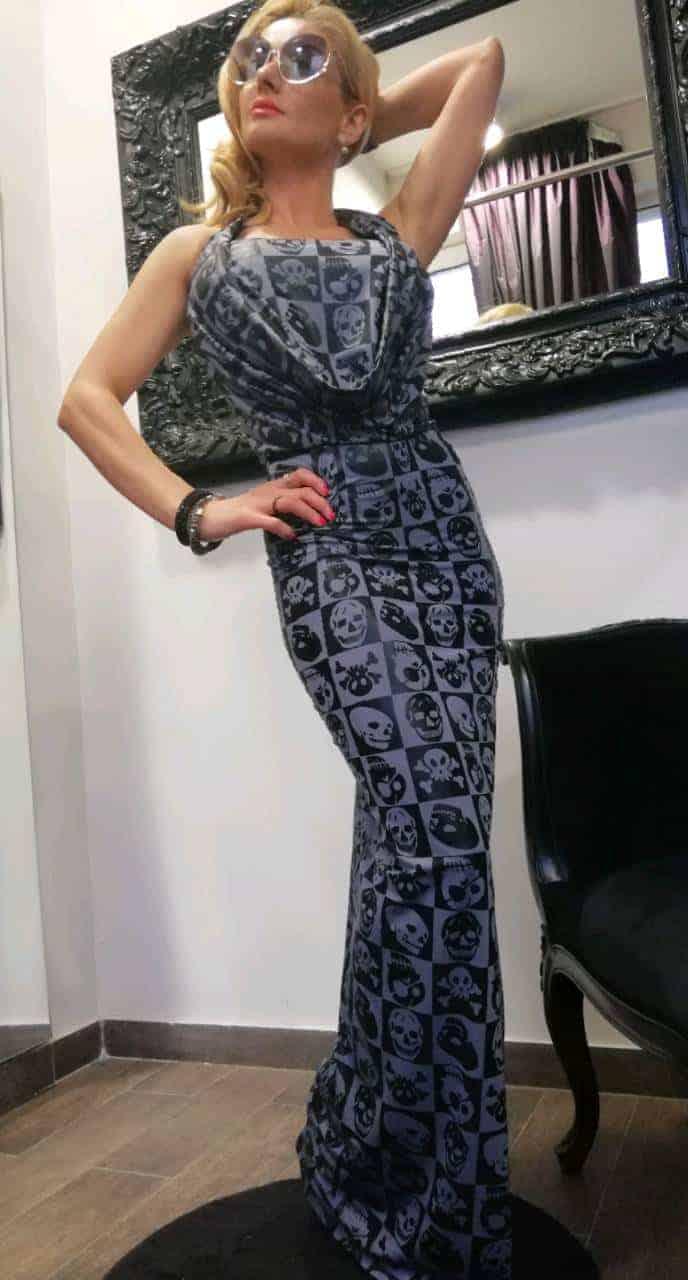 Дълга дамска рокля HELLOWIN