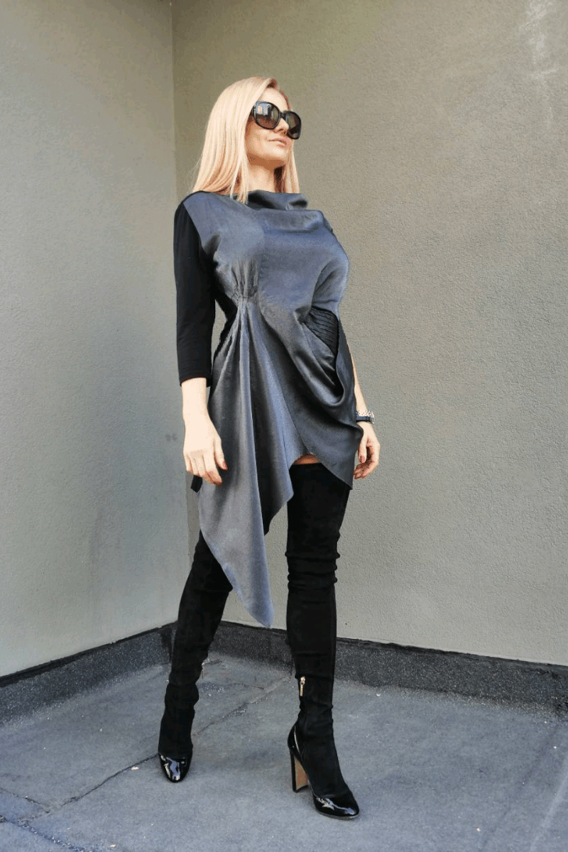 Asymmetrical ladies tunic AMELIA