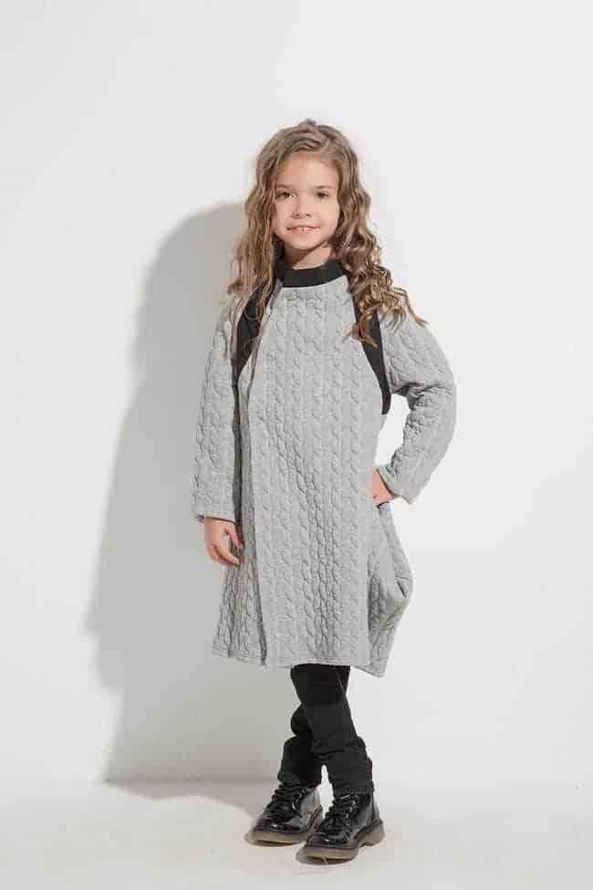Asymmetrical children's vest YANTA