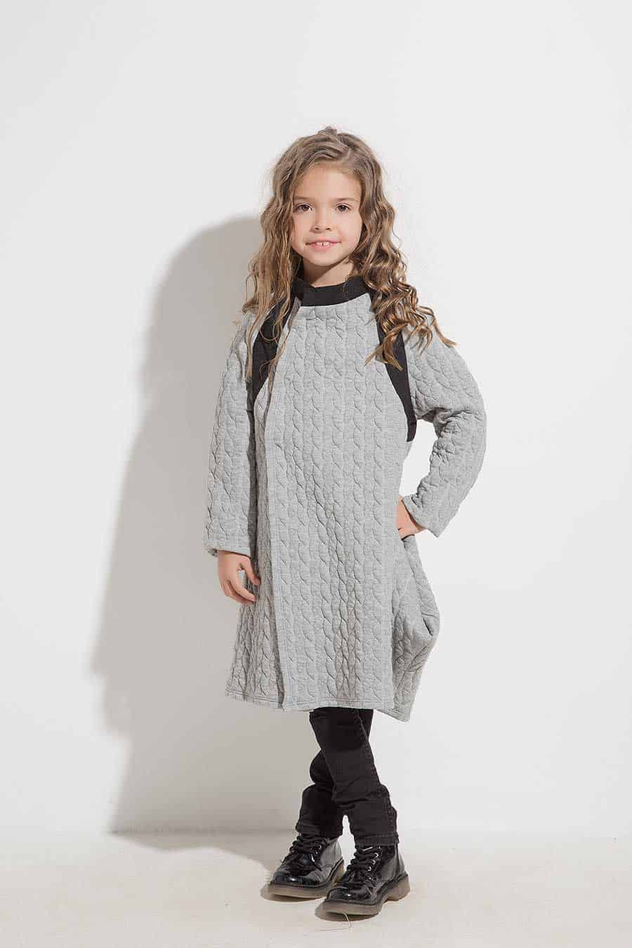 Asymmetrical children's vest YANTA