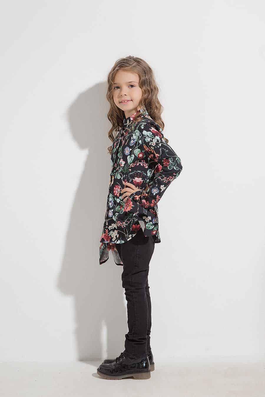 Детска риза с интересни ръкави ERIDA