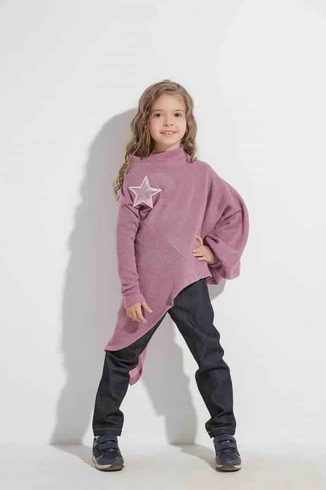 Interesting asymmetrical blouse ALETA