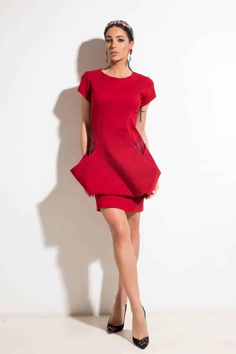 Стилна дамска рокля VENERA