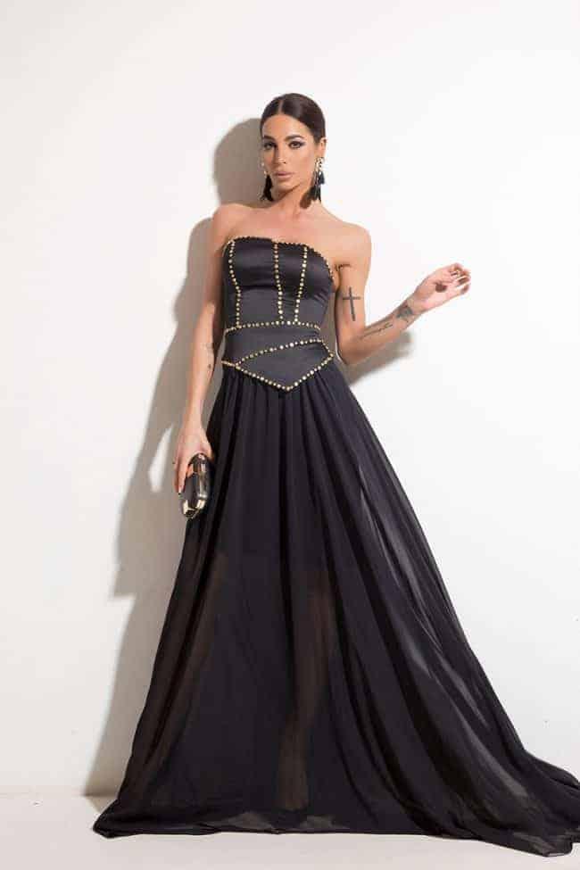 Дълга дамска рокля CHIFFONE