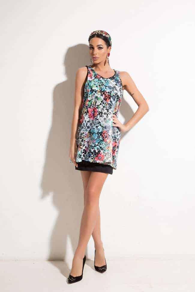 Стилна дамска рокля LORENA