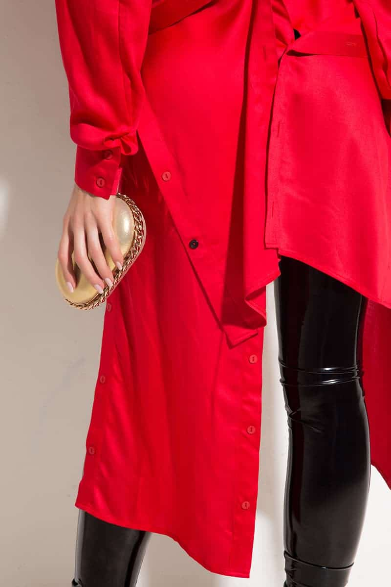 Extravagant long shirt BEAUTY RED