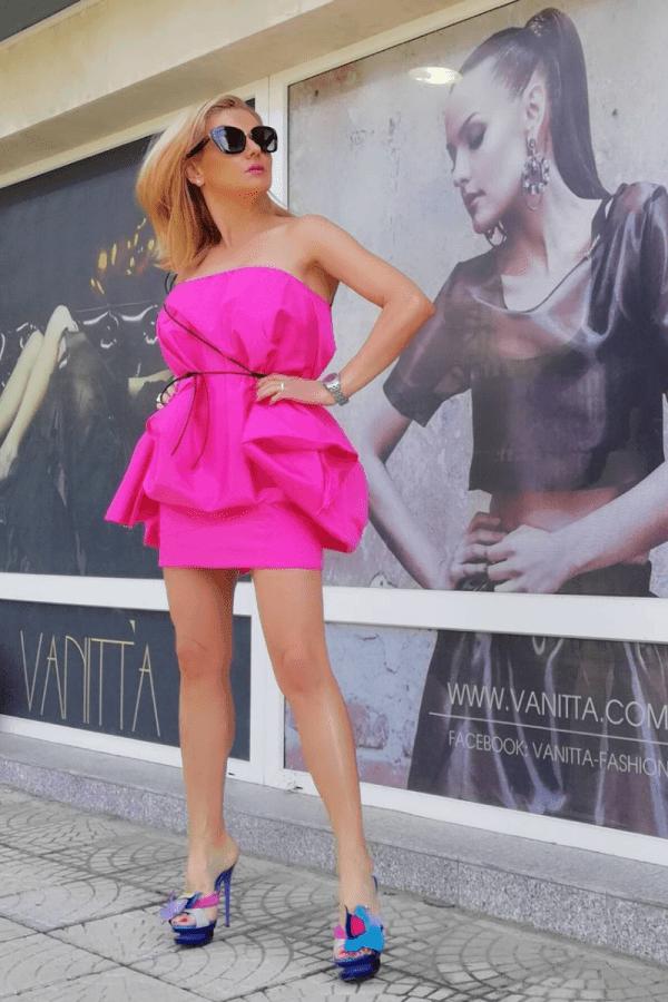 Асиметрична рокля BALLONA