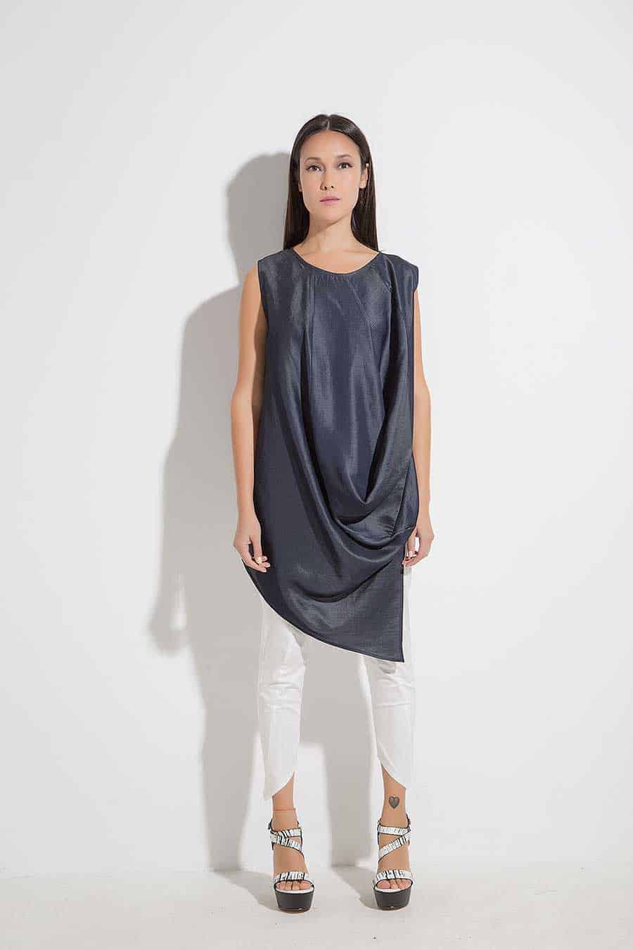 Asymmetrical free tunic LITIA