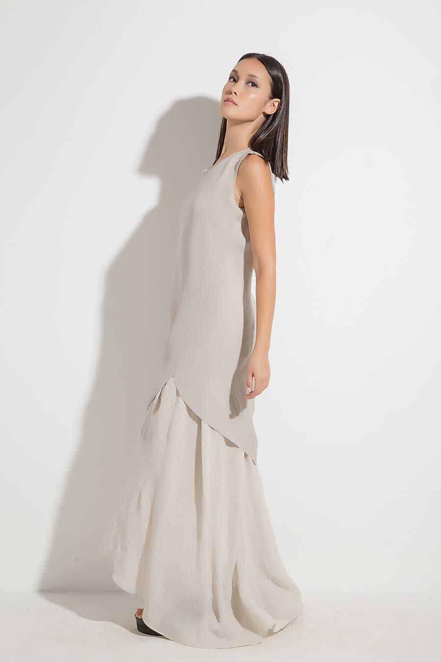 Stylish long dress YAVINA
