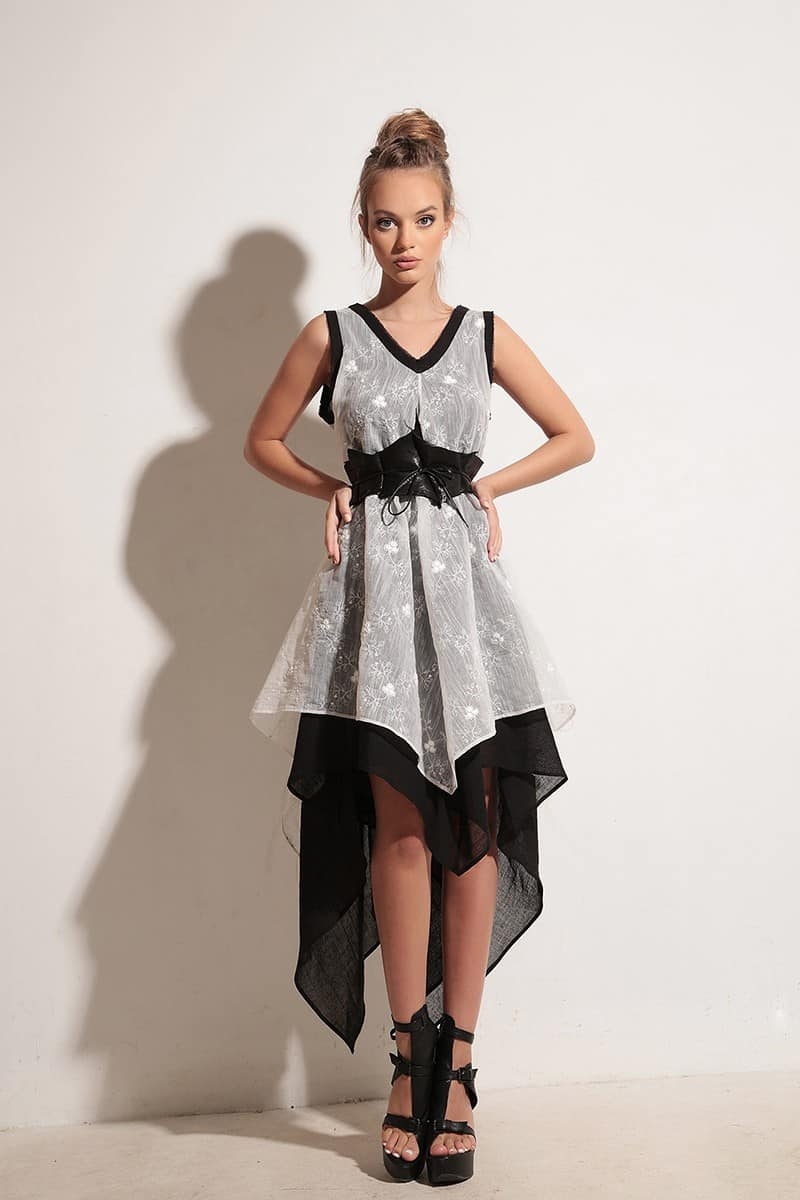 Free linen dress OLINDA