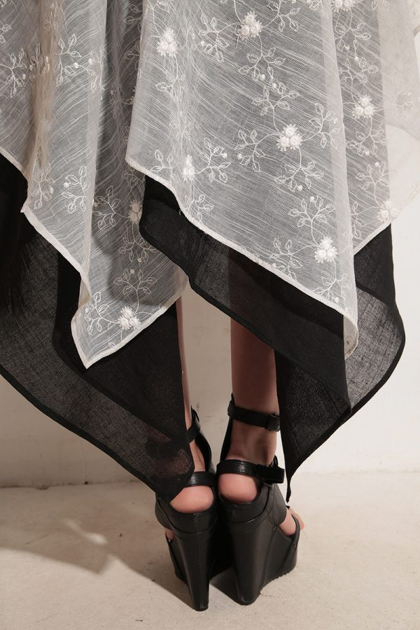 Свободна ленена рокля OLINDA