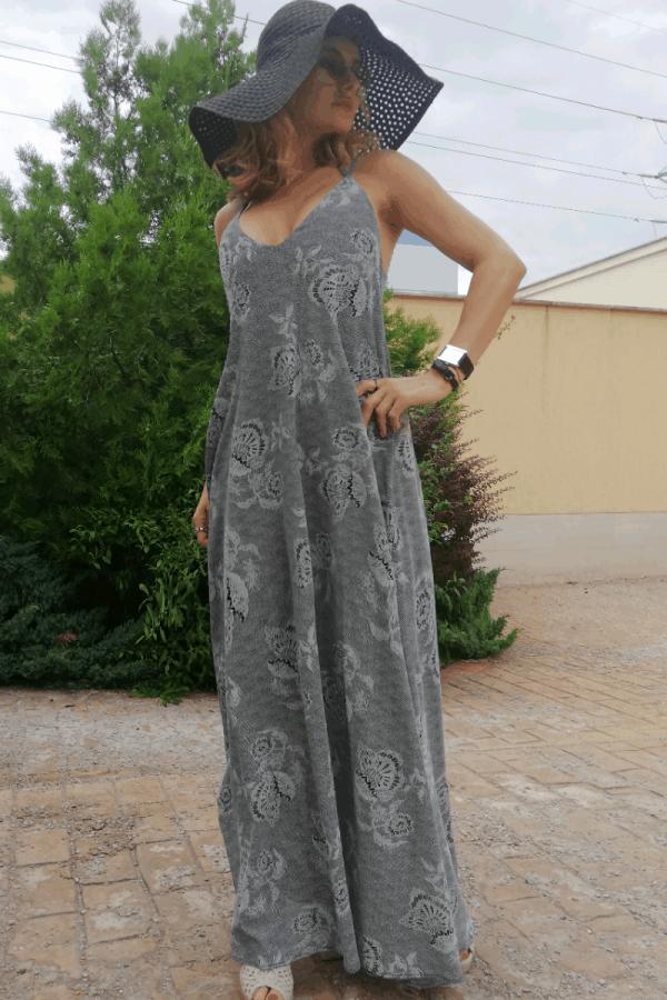 Дълга дамска рокля DELINA