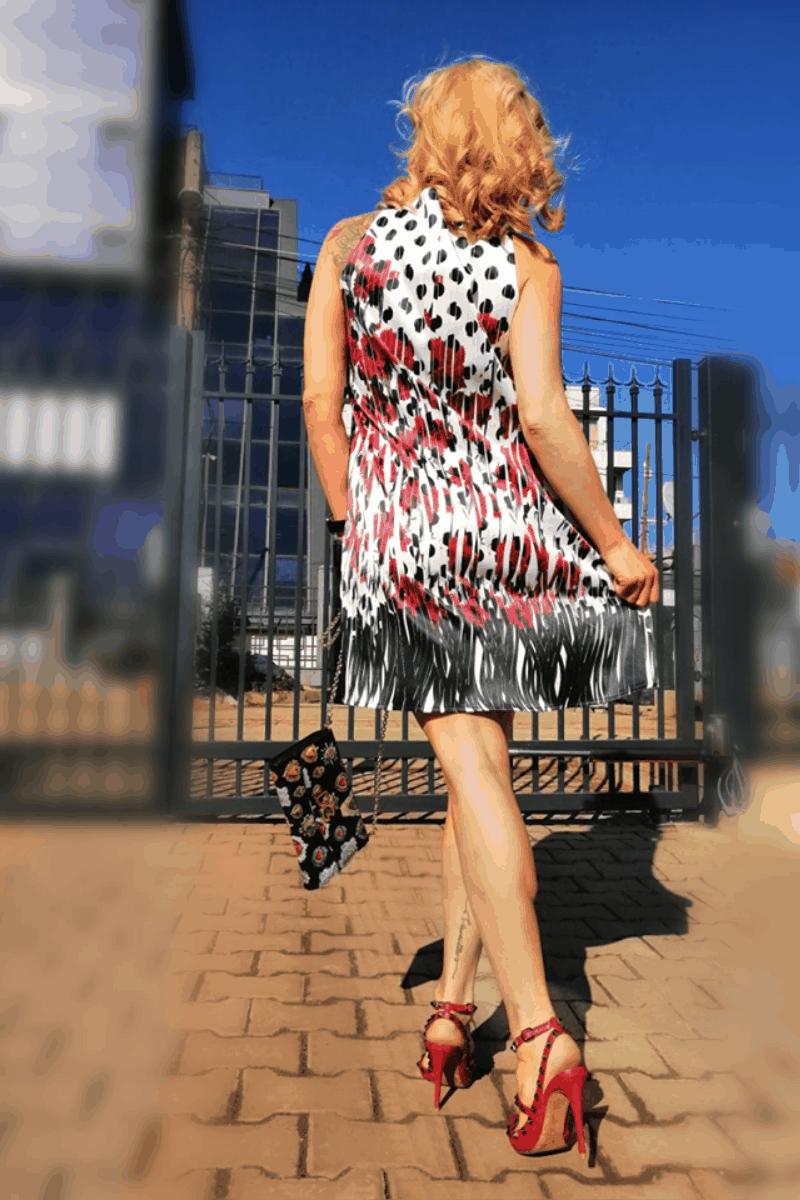 Свободна дамска рокля FOLLENA