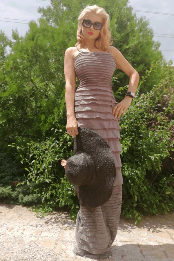 Елегантна дамска рокля DORA