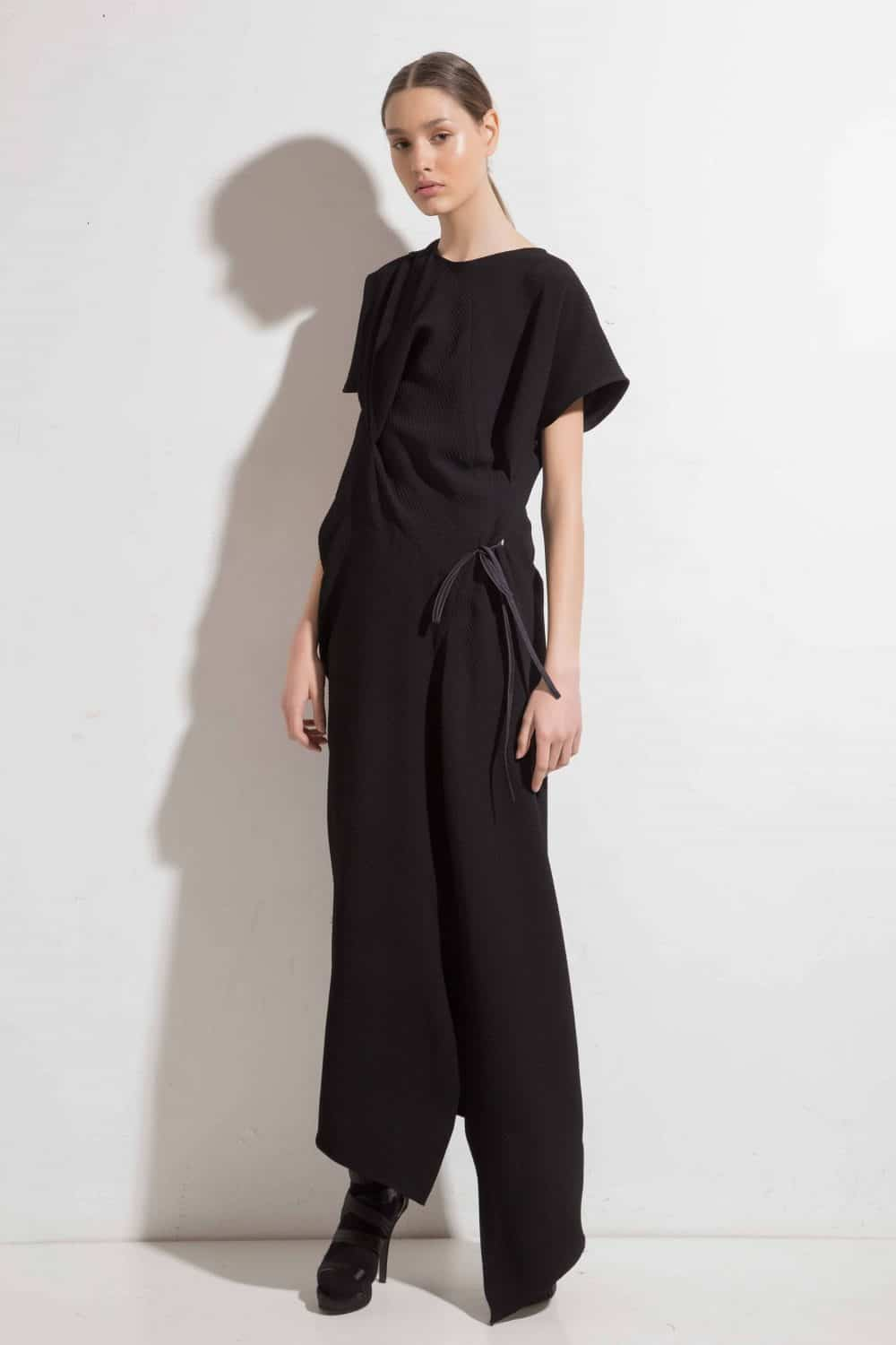 Long asymmetrical dress LIRETTA