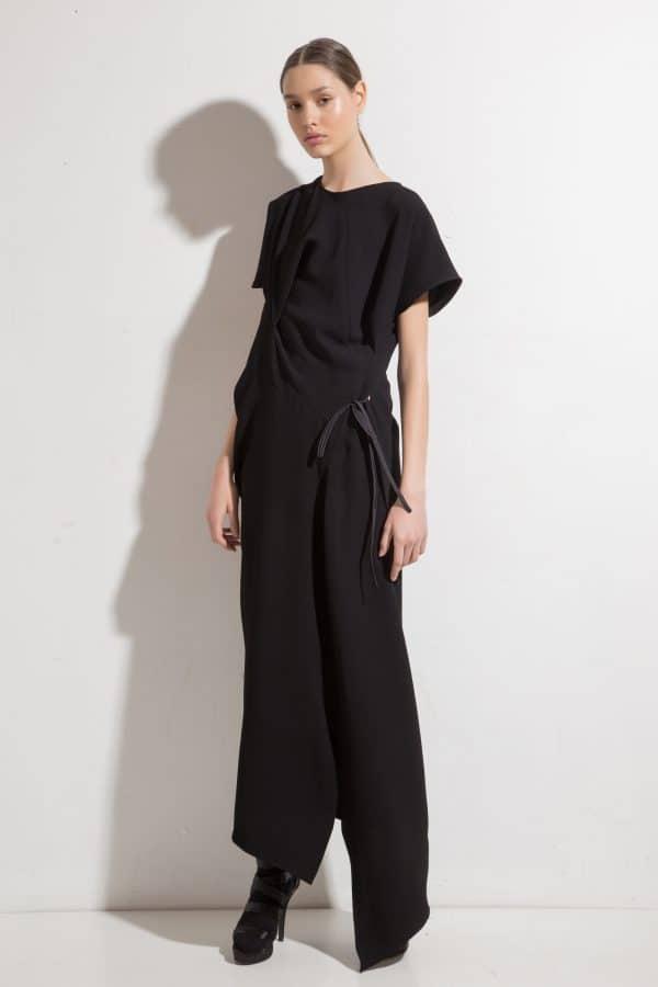 Long asymmetrical dress LIRETTA