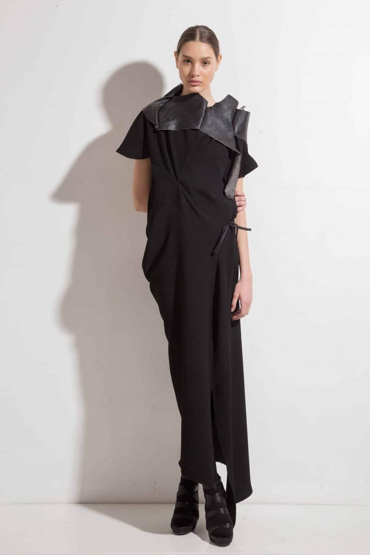 Дълга асиметрична рокля LIRETTA