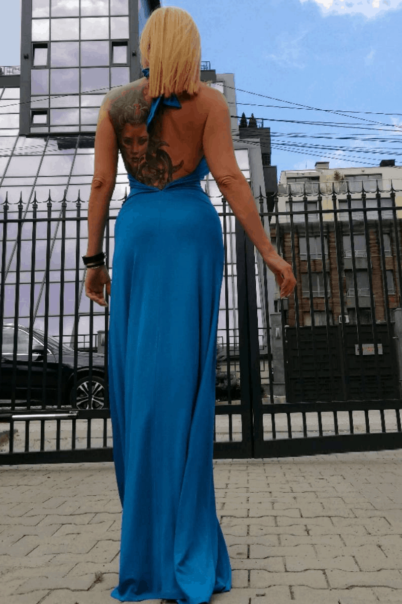 Long ladies dress 1034