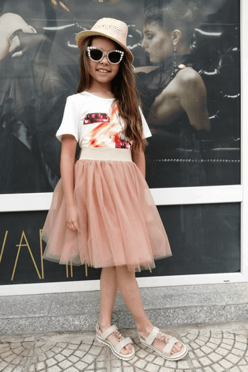 Children skirt of tulle 3002