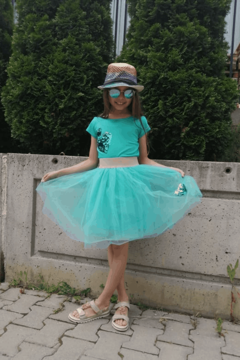 Children skirt of tulle 3001