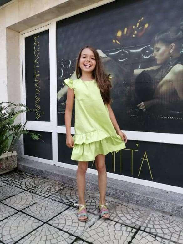 Wide Children's Dress 3016